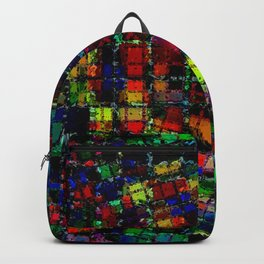 Urban Psychedelic Abstract Backpack