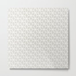 Sketched optical cubs Metal Print