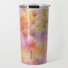 Sophisticated Painterly Floral Abstract Travel Mug