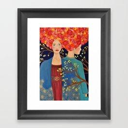 les ames soeurs Framed Art Print
