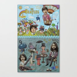 Lonely Hearts, Rubber Soul & Magical Yellow Submarine Tour Canvas Print