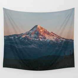 Mount Hood Sunset Wall Tapestry