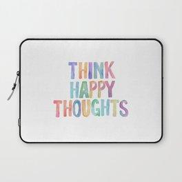 Think Happy Thoughts, Nursery Wall Art Kids Room, Nursery Printables, Baby Girl Nursery Wall Art Laptop Sleeve
