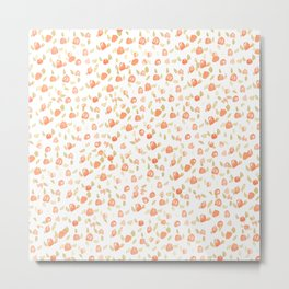 Shabby Chic Watercolor Floral Pattern Metal Print