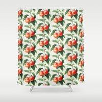 princess peach Shower Curtains featuring Peach by Grace