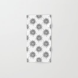 Passionflower Black and White Flower Illustrated Print Hand & Bath Towel