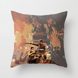 Max and Furiosa Throw Pillow