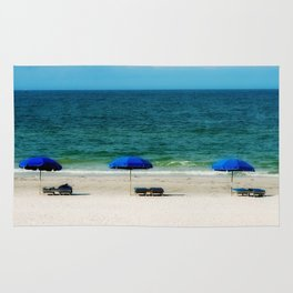 Beach Umbrella Trio Rug