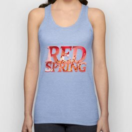 Pomagranate Red Spring Blossom Unisex Tank Top