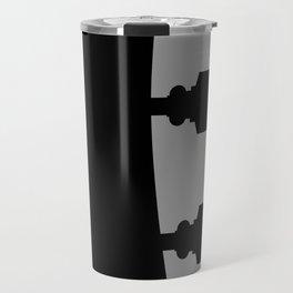 Guitar Headstock With Shadow Travel Mug