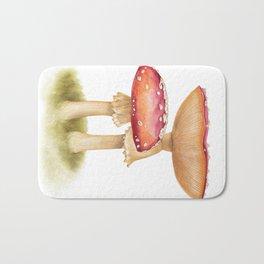 Mushroom Painting | Fly Agaric | AMANITA MASCARA | Watercolour Bath Mat