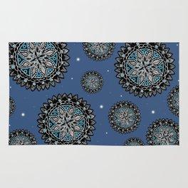 Galaxy Inspired Patterned Mandalas Rug