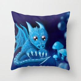 Blue Bubble Bop Throw Pillow