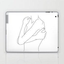 Woman's body line drawing illustration - Dahl Laptop & iPad Skin
