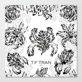 T.F TRAN CLASSIC FLORALS WHITE EDITION Canvas Print