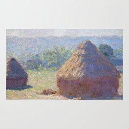 1891-Claude Monet-Haystacks, end of Summer-60 x 100 Rug