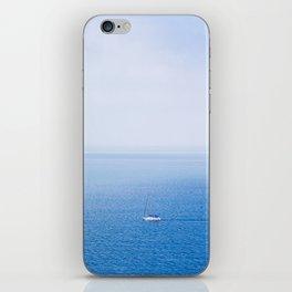 White yacht blue sea iPhone Skin
