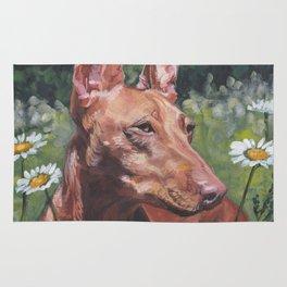 Cirneco dell'Etna dog portrait Beautiful Fine Art Dog Painting L.A.Shepard Rug