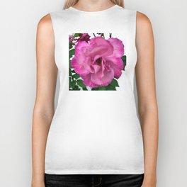 Bodacious Pink Rose | Large Pink Flower | Nature Photography Biker Tank