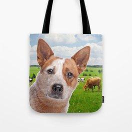 Australian Cattle Dog Red Tote Bag