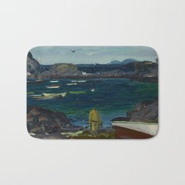 The Harbor, Monhegan Coast, Maine, 1913 Bath Mat