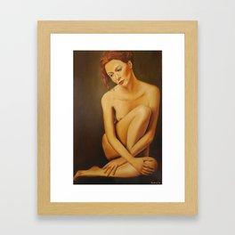 Pensive woman Framed Art Print