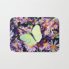 Cabbage butterfly Bath Mat
