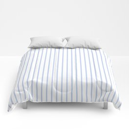 Alice Blue Pinstripe on White Comforters