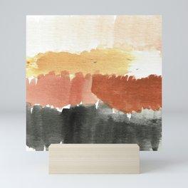 Abstract in Rust n Clay Mini Art Print