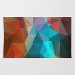 Abstract bright background of triangles polygon print illustration Rug
