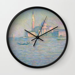 "Claude Monet ""The Church of San Giorgio Maggiore, Venice"" Wall Clock"