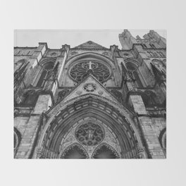 Cathedral Church of St. John the Divine VI Throw Blanket