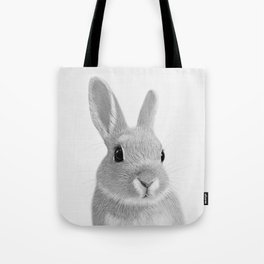 Bunny rabbit print, Rabbit nursery art, Baby animals Tote Bag