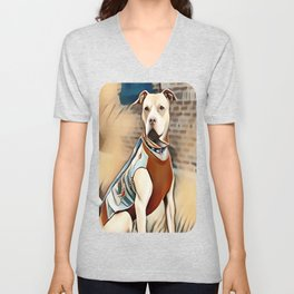 Pit Bull 95% Nice and 5% Naughty Unisex V-Neck