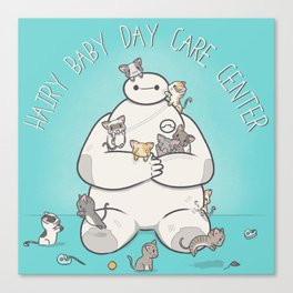 Hairy Baby Day Care Center Canvas Print