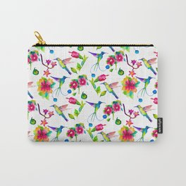 Spring, flowers and colibry Carry-All Pouch