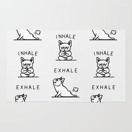 Inhale Exhale French Bulldog Rug