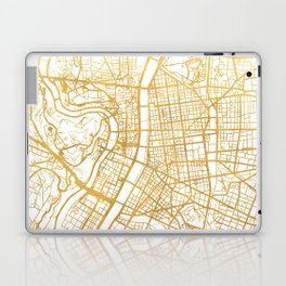 LYON FRANCE CITY STREET MAP ART Laptop & iPad Skin