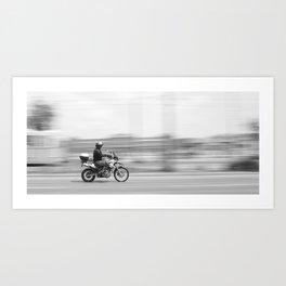 Speed Motor in town Art Print