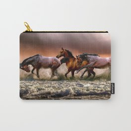 Runing Horses Carry-All Pouch