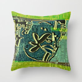 Avatars 2 - Skin Circuits 07-08-16 Throw Pillow