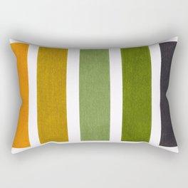 Olive Green & Hazel Brown Geometric Pattern Rectangular Pillow