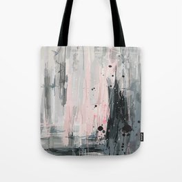 Soft Pink Abstract Tote Bag