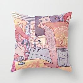 Dead End Girls Throw Pillow
