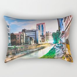On going rapid urbanization leads to river pollution. Rectangular Pillow