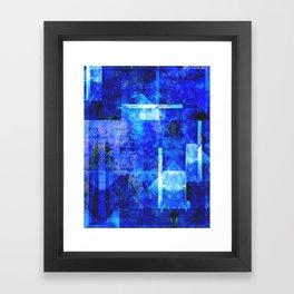 Sapphire Nebulæ Framed Art Print