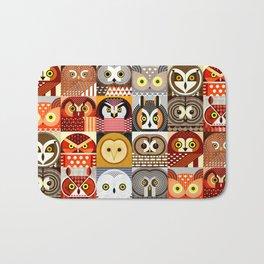 North American Owls Bath Mat
