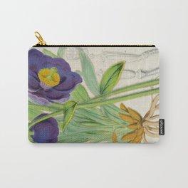 Meconopsis Simplicifolia Vintage Botanical Floral Flower Plant Scientific Carry-All Pouch