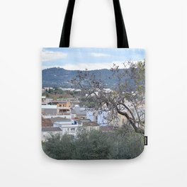 landscape in the little town Tote Bag