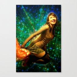 Galaxy Toot Girl | Sexy Pin Up Humor Canvas Print
